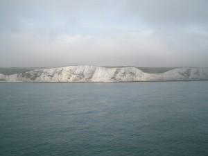 Příjezd do přístavu v Doveru.